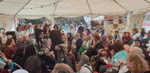 meetings with palestinians at the mothers tent
